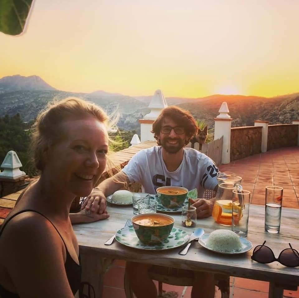 Romantic vegan holiday