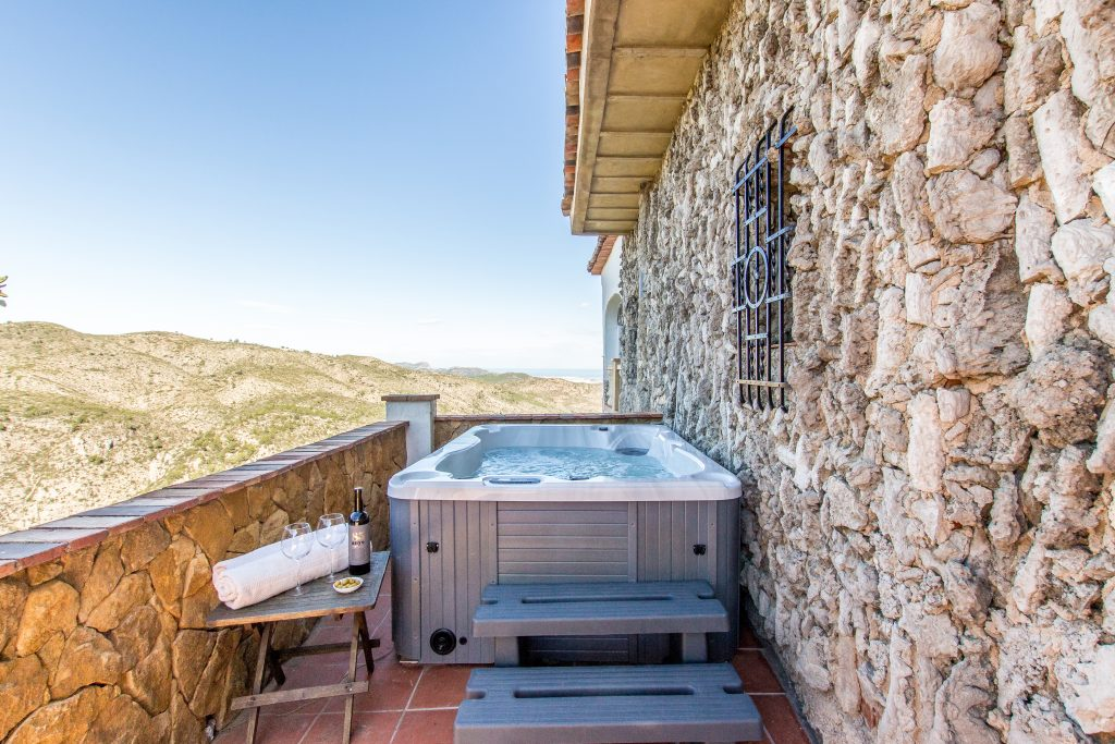 Jacuzzi time at Casa Tarsan Vegan Eco Lodge