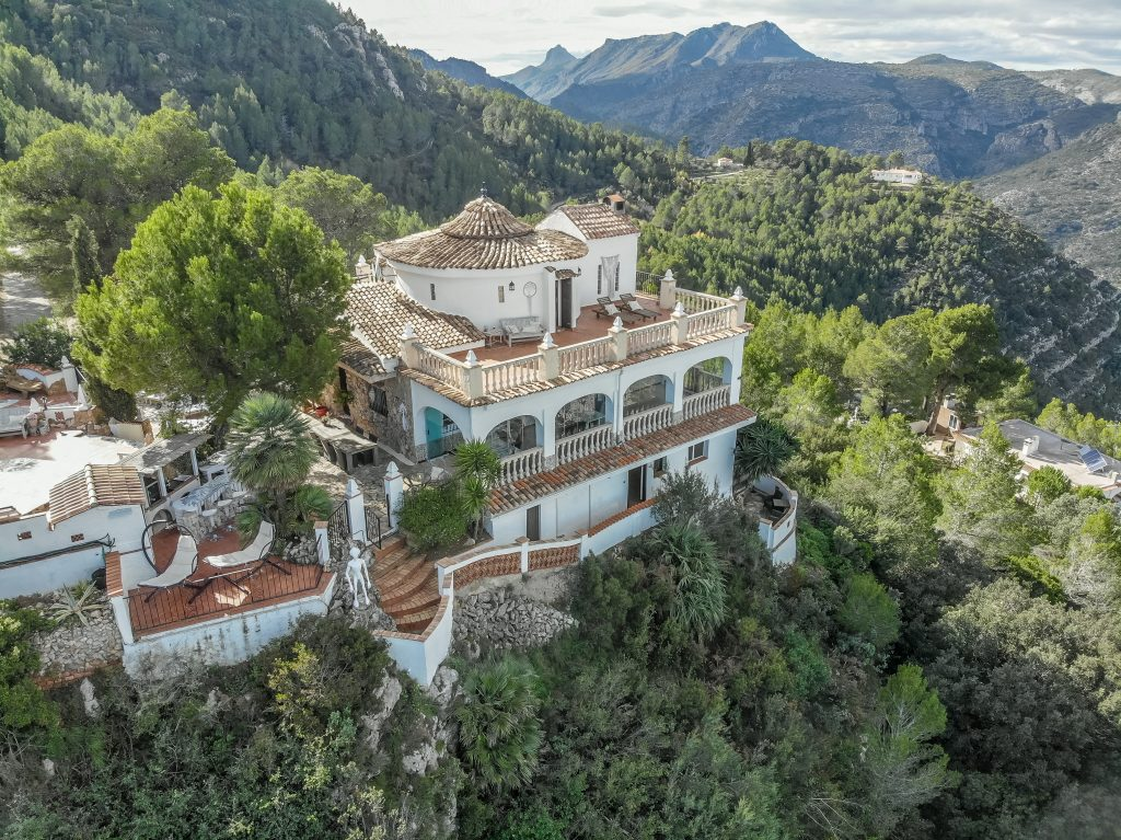 Casa Tarsan Vegan Eco Lodge from the air