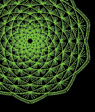 Green Mandala Sliding Block Placeholder